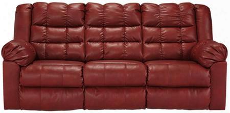 "8320336 Brolayne 83"" Full Sofa Sleeper With Lift Mechanism Pillow Top Arms Innerspring Mattress And Durablend Upholstery In Garnet"