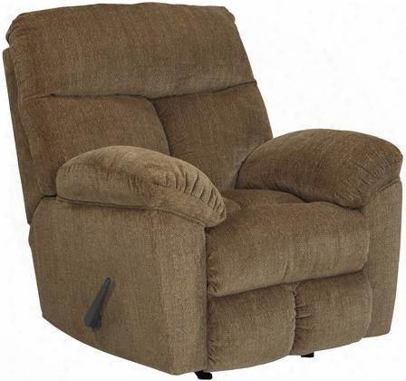 "9790325 Hector 40"" Rocker Recliner With Split Back Cushion Metal Frame And Fabric Upholstery In Caramel"
