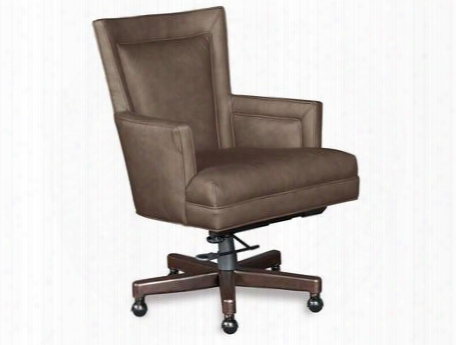 "Aspen Series Ec447-084 37"" Modern-contemporary-style Lenado Home Office Chair With Adjustable Seat And Arm Height Casters And Leather Upholstery In"