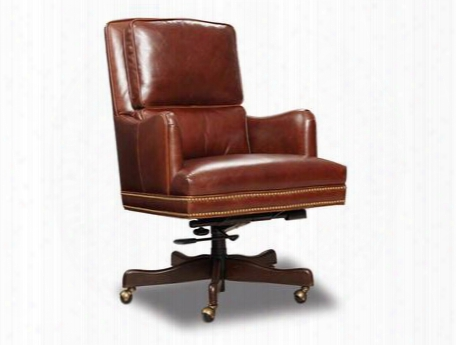 "Balmoral Series Ec464-088 42"" Traditional-style Gordon Home Office Chair With Casters Split Back Cushion And Leather Upholstery In"