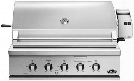 """Bh1-36r-l 36"""" Traditional Built-in Liquid Propane Grill With 3 Stainless Steel Burners Rotisserie Smoker Tray And Drip Tray In Stainless"""