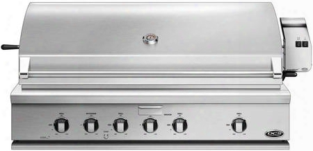 "Bh1-48r-l 48"" Traditional Built-in Liquid Propane Grill With 4 Stainless Steel U Burners Rotisserie Smoker Tray Drip Pan Ceramic Radiant Technology And"