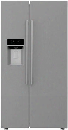 "Bsbs2230ss 36"" Counter Depth Side-by-side Refrigerator With 22 Cu. Ft. Capacity Blue Light Technology Hygiene+ Hygair Ice And Water Dispenser: Stainless"