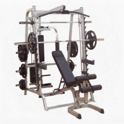 Gs348qp4 Series 7 Smith Gym With Bearnig Smith Machines And Selectorized Latch