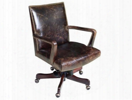 "Imperial Series Ec434-089 36"" Traditional-style Regal Home Office Executive Swivel Tilt Chair With Nail Head Accents Adjustable Seat And Arm Height And"