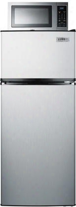 """Mrf1159ss 24"""" Refrigerator And Microwave Combination With 10.3 Cu. Ft. Refrigerator Capacity Frost Free Operation And Allocator Box: Stainless"""
