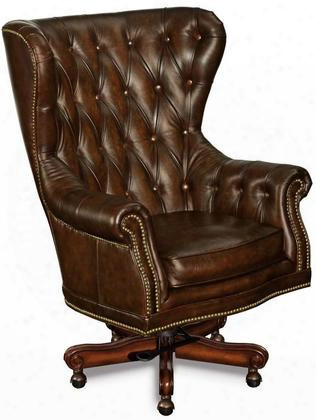 "Sedona Series Ec362-201 49"" Traditional-style Grand Piano Home Office Administration Swivel Tilt Chair With Tufted Back Adjustable Height And Leather Upholstery In"