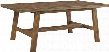 "Dondie D663-25 30"" Rectangular Dining Room Table with Distressed Detailing Primarily Solid Wood and Contemporery Style in a Warm"