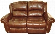 "SS601 Series SS601-02-087 68"" Traditional-Style Living Room Manual Loveseat with Split Back Cushion Nail Head Accents and Leather Match Upholstery in"