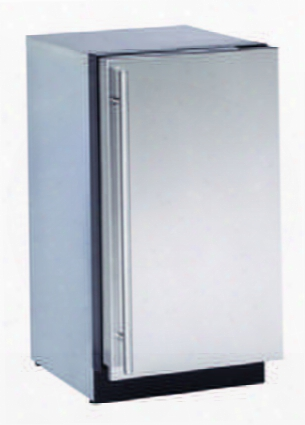 """U3018rs00b 18"""" Modular Series 3000 Compact Refrigerator With 3.4 Cu. Ft. Capacity 3 Slide Out Drawer Bins U Select Control And Convection Cooling: Stainless"""