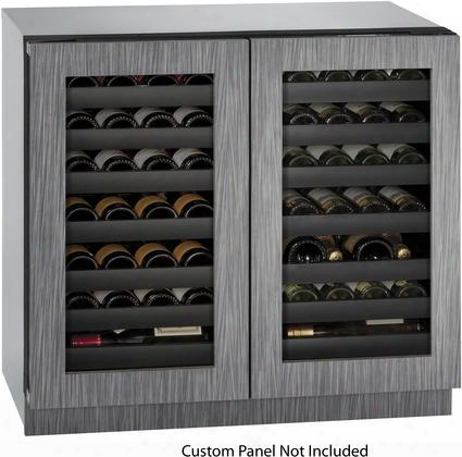 "U3036wcwcint00b 36"" Modular 3000 Series Double Door Wine Captain With 62 Wine Bottle Capacity 14 Full Extension Wine Racks Independently Controlled Dual"