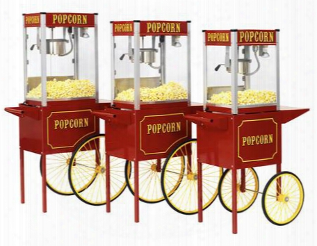 1116110 Theater Pop Poppers 16-oz. Popcorn Machine With Built-in Warming Deck In Theatee Red Finish And Popcorn