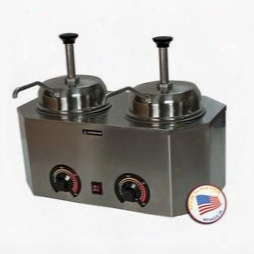 "2029b 19.75"" Pro-deluxe #10 Can Warmer-dual Unit With Adjustable Thermostat And Stainless Steel"