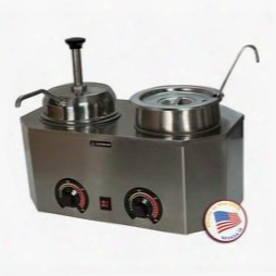 "2029e 19.75"" Pro-deluxe #10 Can Warmer-dual Unit With Stainless Steel"