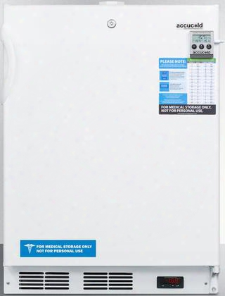 "Acf48wmeddt 24"" Medical Freestanding Or Built In Compact Freezer With 3.1 Cu. Ft. Capacity Nist Calibrated Temperature Display Temperature Alarm And Hospital"