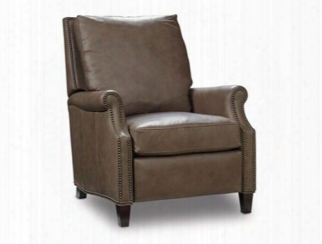 "Aspen Series Rc362-084 39"" Traditional-style Living Room Lenado Recliner With Tapered Legs Nail Head Accents And Leather Upholstery In"