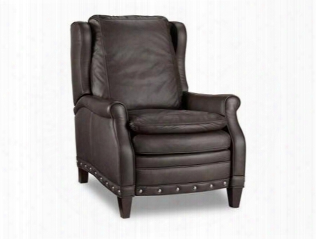 "Aspen Series Rc364-097 40"" Traditional-style Living Room Durant Recliner With Nail Head Accents Cushion Back And Leather Upholstery In"