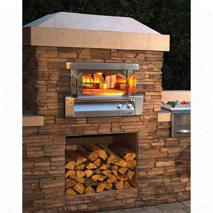 "Axe-pza-bi-ng 30"" Natural Gas Pizza Oven For Built-in Installations With 40000 Btu In Stainless"