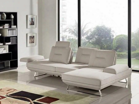 "Contempo Contempo2pcsd 116"" 2 Pc Sectional With Left Arm Facing Sofa Right Arm Facing Chaise Adjustable Backrests And Fabric Upholstery In Sand"