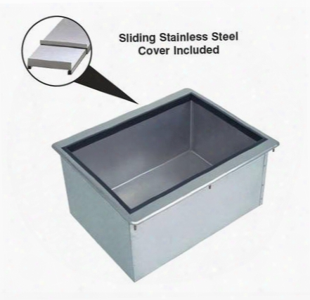 "D-24-ibl-7-x 10"" Deep Drop-in Ice Bin With Sliding Cover And 7 Circuit Cold Plate 21"" X"