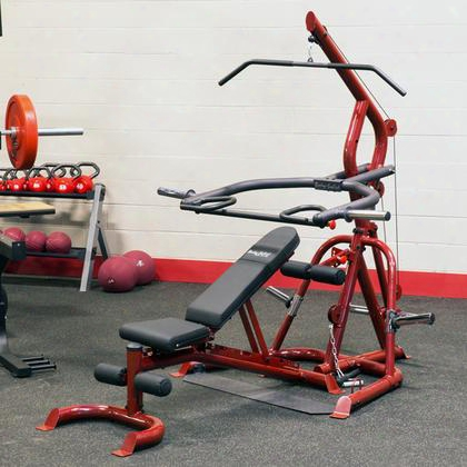 Glgs100p4 Classic Series Corner Leverage Gym Package With Flat Incline And Decline