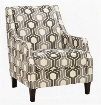 """Guillerno Collection 7180121 30"""" Accent Chair With Fabric Upholstery Piped Stitching Tapered Legs And Contemporary Style In"""