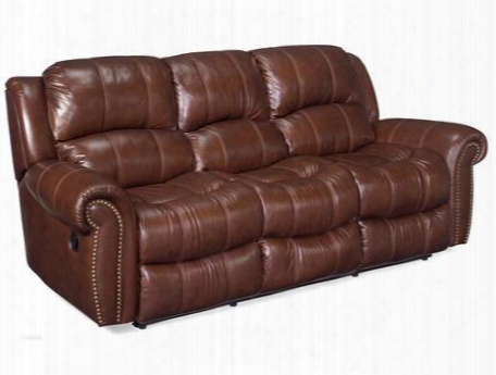 "Ss601 Series Ss601-03-087 88"" Traditional-style Living Room Sofa With 2 Manual Recliners Split Back Cushion And Leather Match Upholstery In"
