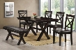 5009-590102 Austin Dining Table Bench and Chair with Molding Detail Distressed Detailing and Stretchers in