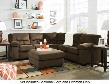 Dailey 95403-55-56-08 2-Piece Living Room Set with Sectional Sofa and Ottoman in Chocolate