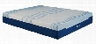 "IMGELL5013CK California King Lane Contour Lux VI Liquid Gel Memory Foam 13"" Mattress White and Blue Memory Foam and Gel Memory"