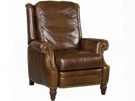 "Tiandi Series Rc254-088 42"" Traditional-style Living  Room Jinse Manual Recliner With Rolled Arms Cushion Back And Leather Upholstery In"