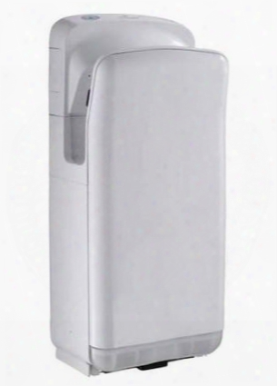 Wh666white Wall Mounted Hand Dryer With Two Motors An Minimalist Design In