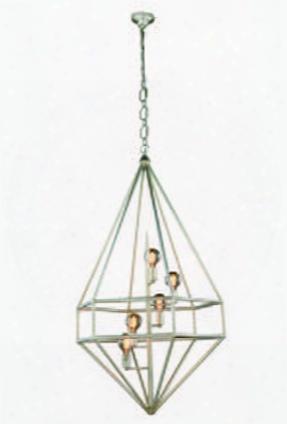 1492d30sl Marquis Collection Pendant Lamp D:30 H:52 Lt:5 Vintage Silver Leaf