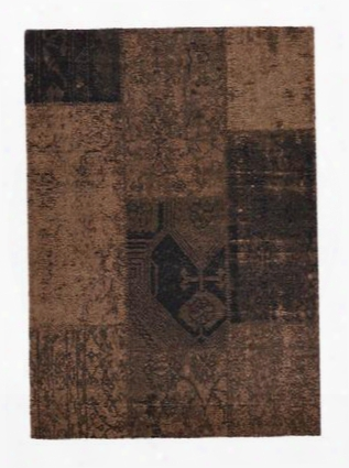 3500-075-0811 7.10' X 11.2' Hudson Collection - Patchwork - Brown