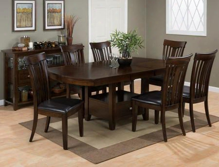 836-78tbktset7d Mirandela High/low Dining Table Withstorage Base With 6 Dining