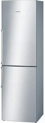 "B11cb81sss 24"" 500 Series Energy Star Bottom Freezer Refrigerator With 11 Cu. Ft. Capacity Dual Evaporator Spill Proof Glass Shelves Hydrofresh Drawer And"