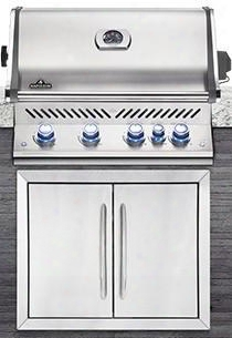 "Bippro500rbp-ss-1 31"" Built-in Prestige Pro 500 Series Liquid Propane Grill With Infrared Rear Burner Up To 66 000 Btus 760 Sq. In. Cooking Area And Night"