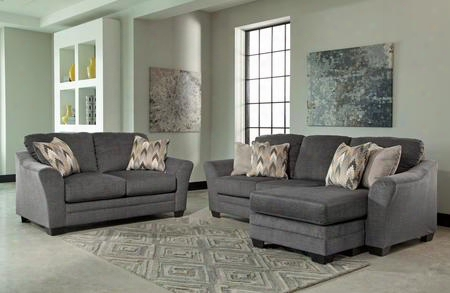 Braxlin 88502-18-35 2-piece Living Room Set With Sofa Chaise And Loveseat In