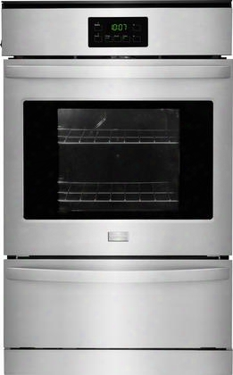 "Ffgw2415qs 24"" Single Gas Wall Oven With 3.3 Cu. Ft. Capacity Dual Radiant Baking And Roasting Vari=broil Temperature Control And Ready-select Controls In"
