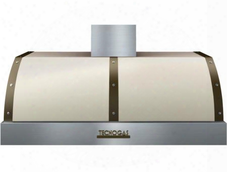 """Hd481btcb 48"""" Csa Certified Deco Series Hood With 600 Cfm Maximum Aspiration Capacity Stainless Steel Baffle Filters And Electronic Buttons Control: Cream"""