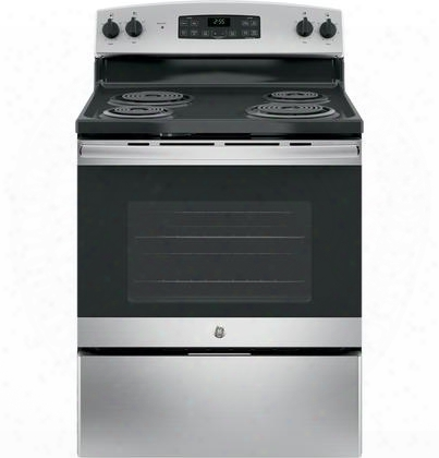 "Jb255rkss 30"" Star K Freestanding Electric Range With 5 Cu. Ft. Oven Capacity 4 Coil Heating Elements Dual Bake Element And Self Cleaning: Stainless"