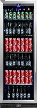 "Kbu-170b-ss 24"" Beverage Center With 14.3 Cu. Ft. Can Capacity Temperature Alarm Automatic Defrost Security Lock Left Hinge And Tempered Reversible Glass"