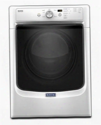 "Mgd3500fw 27"" Ada Compliant Gas Dryer With 7.4 Cu. Ft. Capacity Powerdry System Wrinkle Prevent Option Sanitize Cycle And Rapid Dry Cycle:"