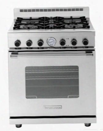 "Rn301gcss 30"" Next Range With 5.7 Cu. Ft. Capacity Classic Door Design 4 Gas Burners 2 Convection Fans And Easy-to-clean: Stainless"