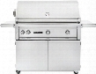 "L700PSFRLP Sedona Series 42"" Grill with Grill Cart 2 Stainless Steel Tube Burners 1 ProSear Burner and Rotisserie Blue LED Knob Light and Temperature Gauge"