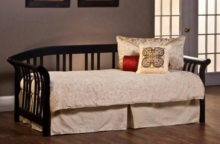 1046dblh Dorchester Daybed With Suspension Deck Sleigh Design And Solid Pine Wood Construction In Black