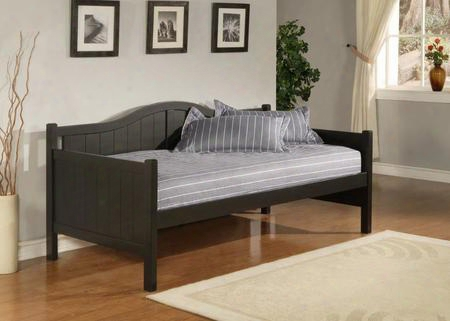 1572db Staci Daybed With Arched Silhouette Bead Board Design Mdf And Veneer Construction In Black