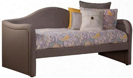 1870db Porter Twin Size Daybed With Pine Wood Construction And Linen Upholstery In Dove Grey
