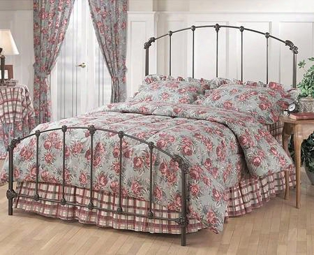 346bkr Bonita King Size Panel Bed Set With Rails Included Timeless Style And Metal Construction In Copper Mist