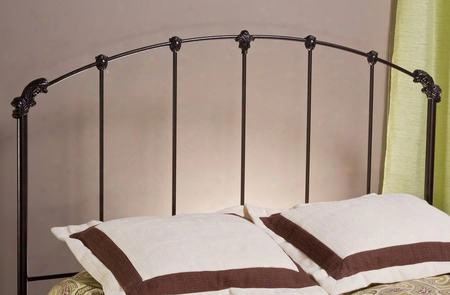 346hkr Bonita King Size Headboard With Rails Included Silhouette Design And Metal Construction In Copper Mist